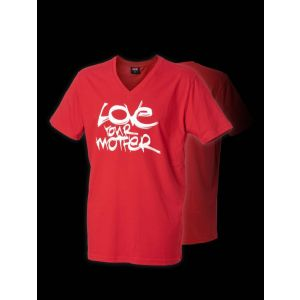 Cock & Balls - Love your mother Red T-Shirt